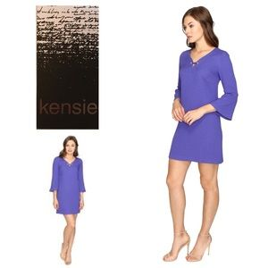 New Kensie Dot Textured Purple Dress
